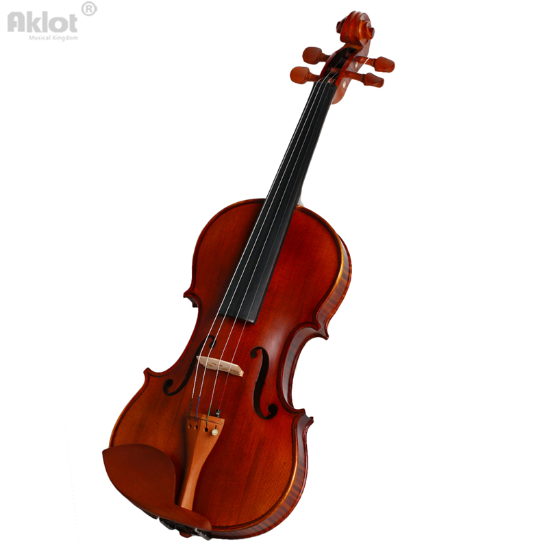 Vilolin 4/4 Full Size Antique Fiddle Natural Acoustic With Case Bow Rosin Solid Wood New 4 4 high grade full size solid wood natural acoustic violin fiddle with case bow rosin professional musical instrument