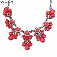 Women Handmade Chunky Imitation Pearl Necklace Fashion Rhinestones Collar Chokers Necklaces Statement Jewelry Bijoux 371