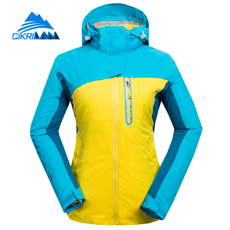 Hot Sale Windstopper Water Resistant Coat 2in1 Hiking Winter Jacket Women Outdoor Veste Breathable Camping Chaquetas Mujer hot sale windstopper water resistant coat 2in1 hiking winter jacket women outdoor veste breathable camping chaquetas mujer