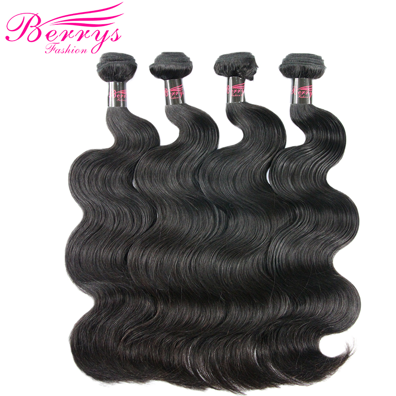 Peruvian Body Wave 4Bundles 100 Virgin Human Hair 10 Inches to 28 Inches Unprocessed Hair Weft