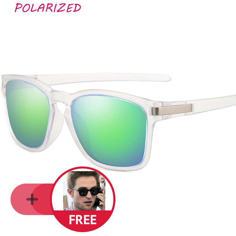 d799dcbb57 Comprar Montura transparente gafas De sol cuadradas hombres mujeres  polarizadas lentes verdes revestimiento gafas De sol moda hombres  accesorios Lunette De ...