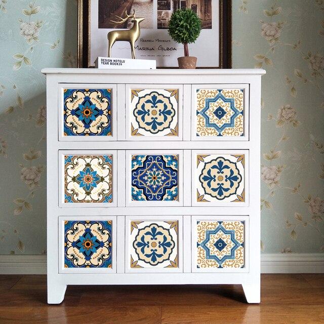 Su geçirmez Yapıştırıcı Banyo Tuvalet 10 adet/takım Mutfak dekorasyon mobilyası Çıkartması PVC Duvar Kağıdı Mozaik DUVAR KAROLARI Etiket