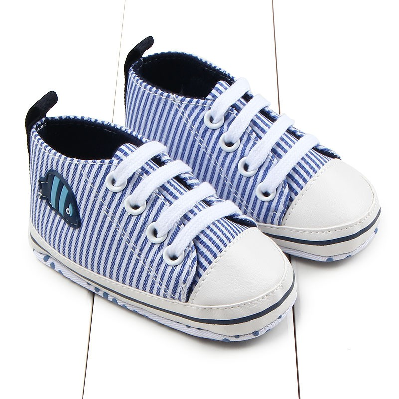 0-12M Casual Baby Shoes First Walkers Baby Girls Boys Elastic Canvas Soft Bottom Baby Toddler Shoes