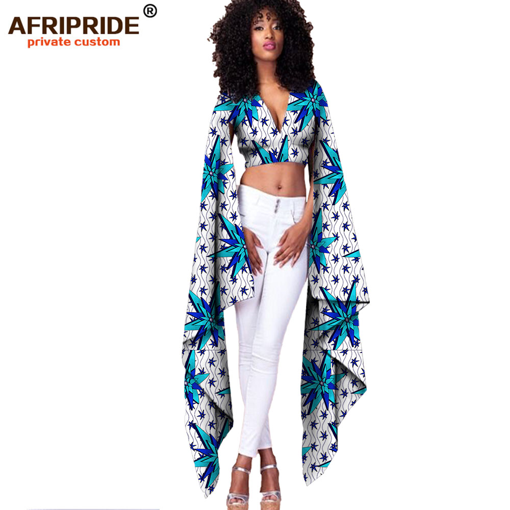 AFRIPRIDE private custom 2018 Summer new fashion short tight top with super long sleeves pure cotton