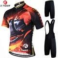 Набор для велоспорта X-Tiger Pro  дышащий гоночный велосипед  Джерси  быстросохнущая велосипедная одежда с коротким рукавом