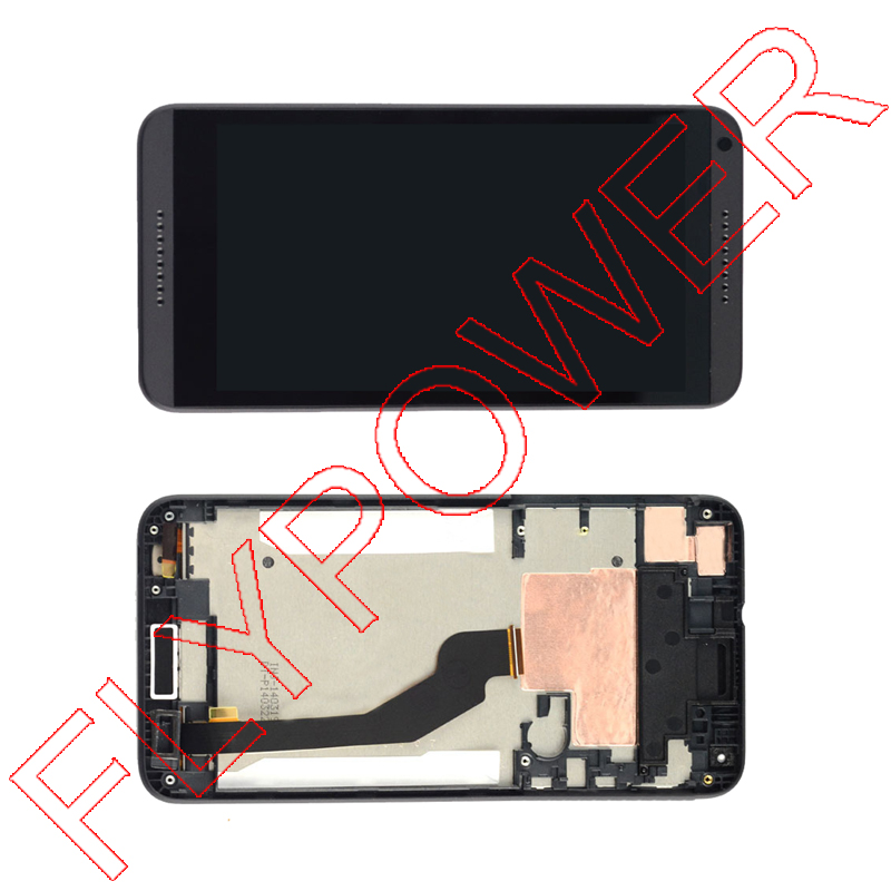 For HTC Desire 816H D816h LCD Display with Digitizer Touch Screen Assembly With Frame Black Color free shipping lcd screen display touch panel digitizer with frame for htc one m9 black or silver or gold free shipping