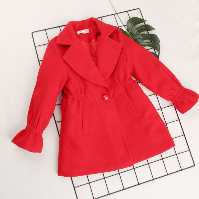 6ceadfad9 Girls wool coat kids clothes girls 2018 Winter coats and jackets ...