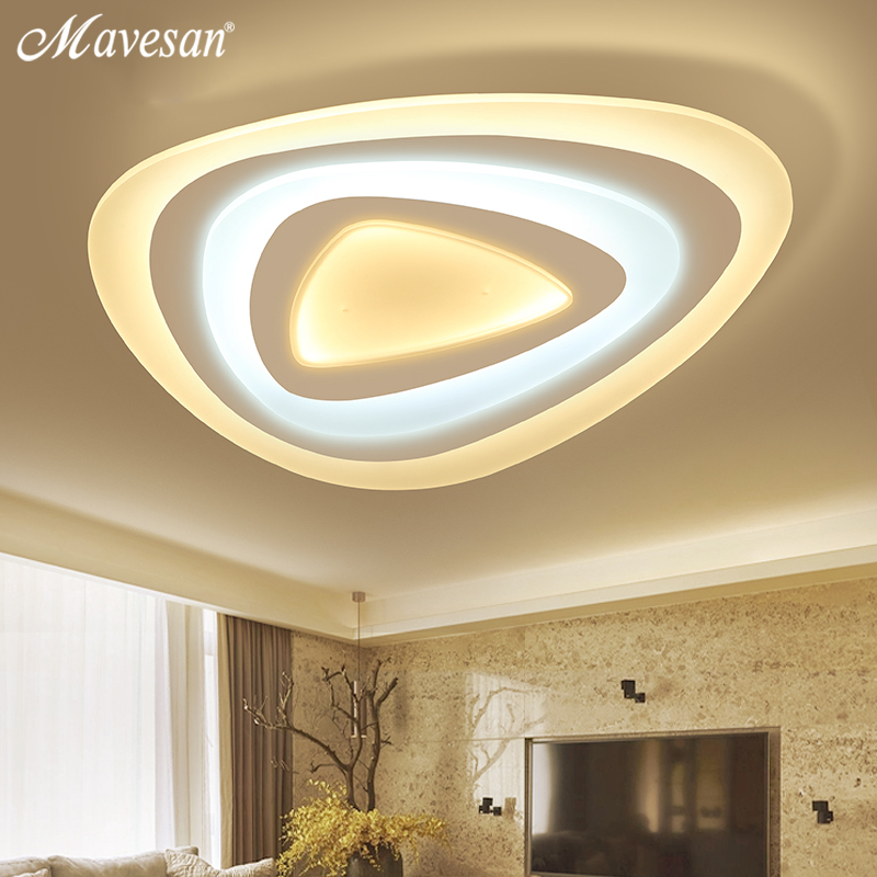 Mavesan Dimmer led ceiling lights with Acrylic lamp ceiling for Living Room bedroom modern Luminaire luminaria teto De Techo noosion modern led ceiling lamp for bedroom room black and white color with crystal plafon techo iluminacion lustre de plafond