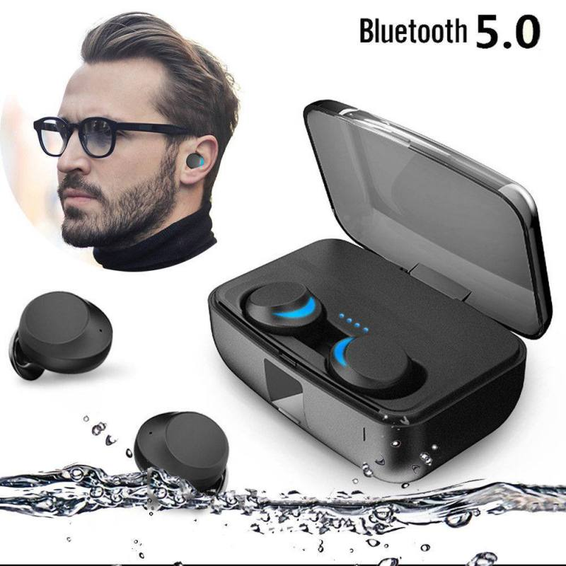 IPX8 Waterproof Earphone Wireless Bluetooth 5.0 Headset TWS Stereo Earbuds Support for Access For Android Voice AssistantIPX8 Waterproof Earphone Wireless Bluetooth 5.0 Headset TWS Stereo Earbuds Support for Access For Android Voice Assistant
