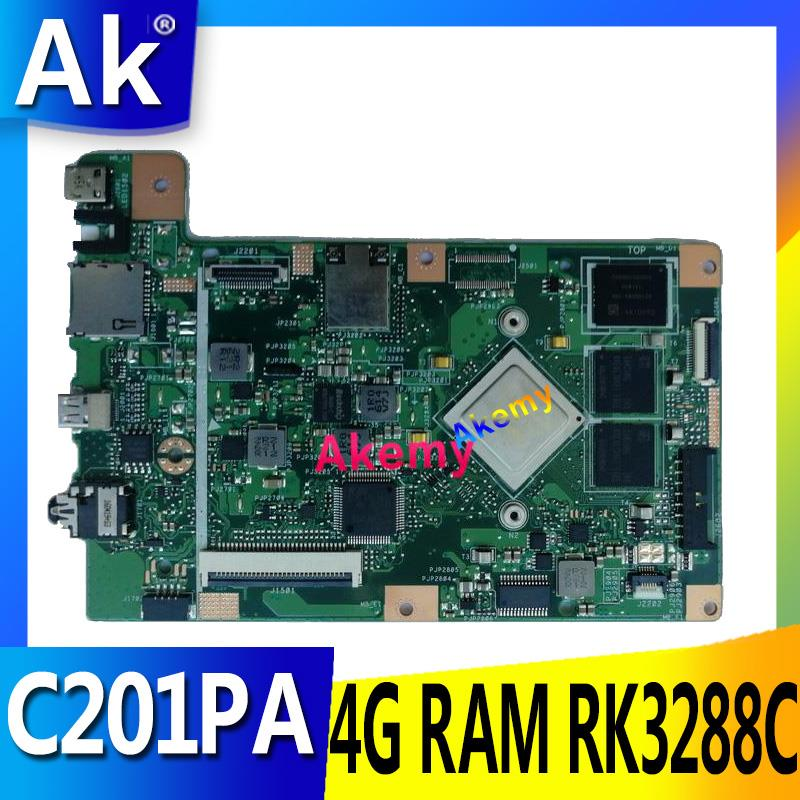 AK C201PA Laptop motherboard for ASUS C201PA C201P C201 Test original mainboard 4G <font><b>RAM</b></font> RK3288C image