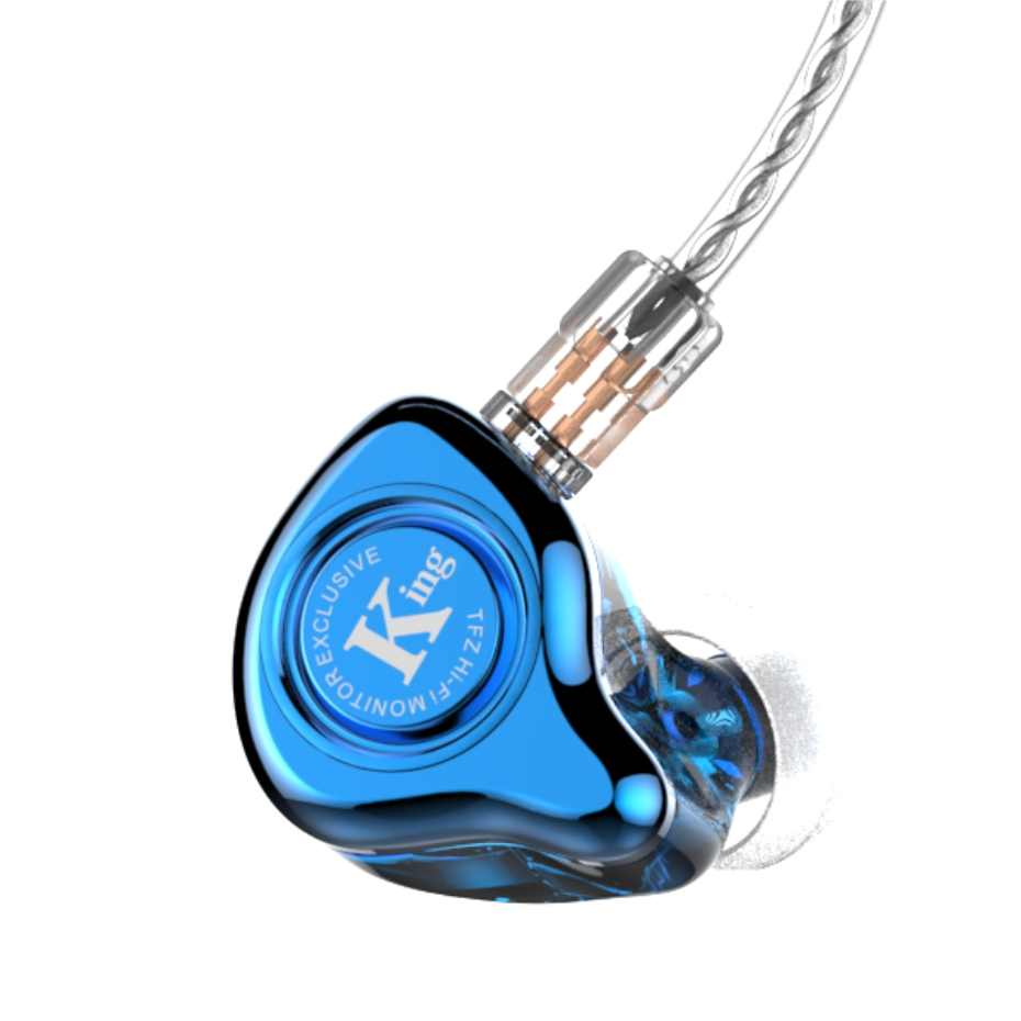 2017 The Fragrant Zither TFZ EXCLUSIVE KING 2Pin Interface HIFI Monitor In Ear Sports Earphone Customized