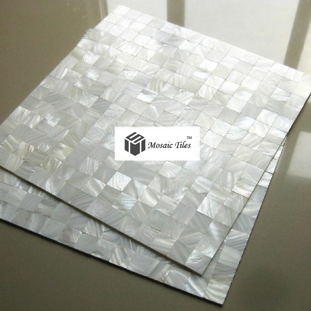 New Mother Of Pearl Mosaic Tile Kitchen Backsplash 12x12 Bathroom Mirror Wall Shower Tiles Deco Mesh