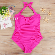 CATTLEYA Plus Size One Piece Swimsuit Women Swimwear Solid Monokini Maillot De Bain Femme Bodysuit Female Bathing Suit CQ 17007