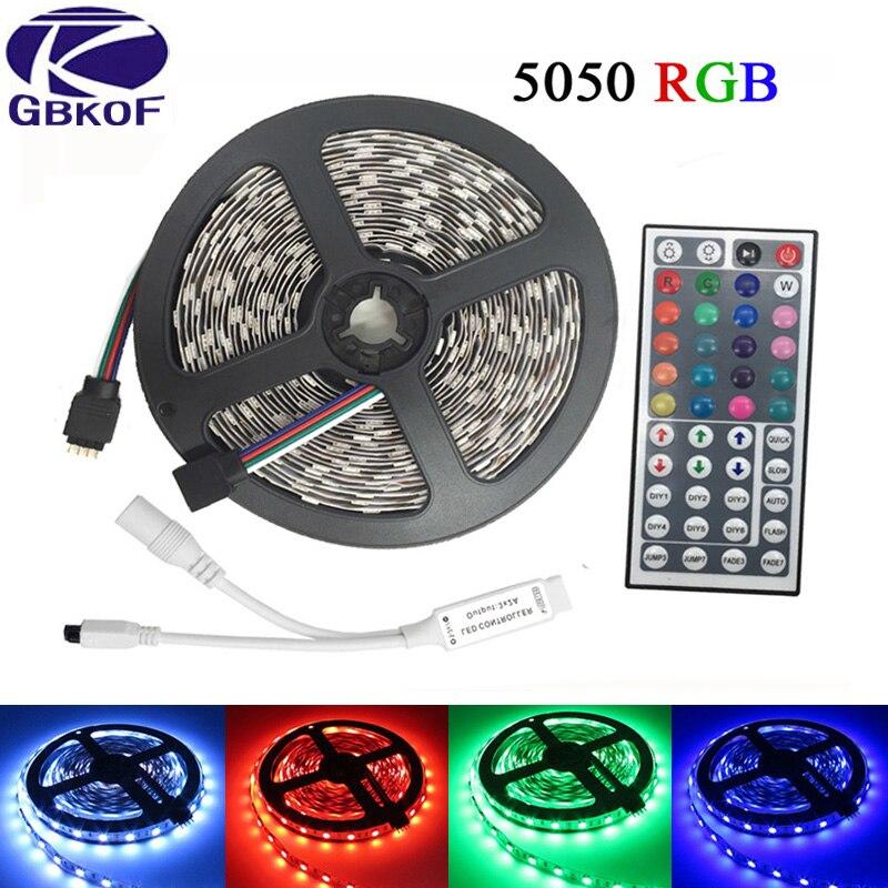10m 5m Rgb Led Strip 5050 Set With Ir Remote Controller Dc 12v Smd 60leds M 30leds Waterproof 600 Leds Tape Light