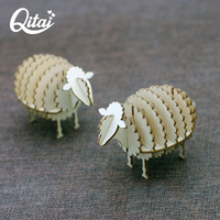 Original QITAI global shopping festival 2019 New Style 1 PC Wooden Sheep Embellishment home decoration accessories WF208