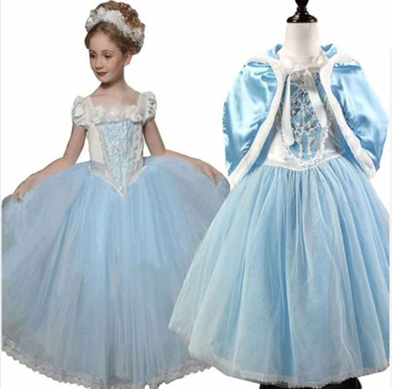 Cinderella Princess Character Dress Child 3t 4t 5 6 7: Toddler Girls Princess Dress Kids Girl Halloween Cosplay