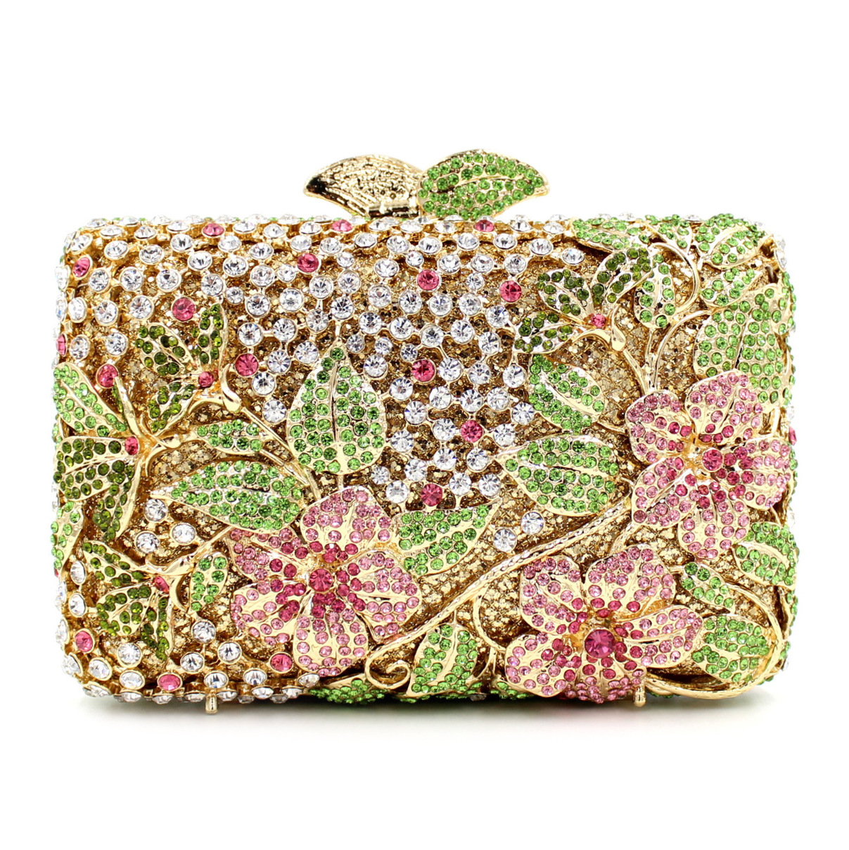 Both Side Handmade Diamond Flower Crystal Evening Bag Clutch Bags Upscale Styling party Day Clutches Lady Wedding mini Purse europe new upscale butterfly diamond evening bag full diamond party handbag clutch