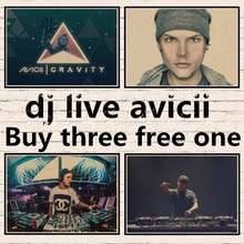 Dj live Avicii electronic music DJ Home decoration Kraft Movie Poster Drawing core Wall sticker