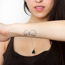 HC1081 Waterproof Removable Temporary Tattoo Sticker Cute Cartoon Baby Elephant Pattern Flash Tattoo Kawaii Fake Tattoo Stickers