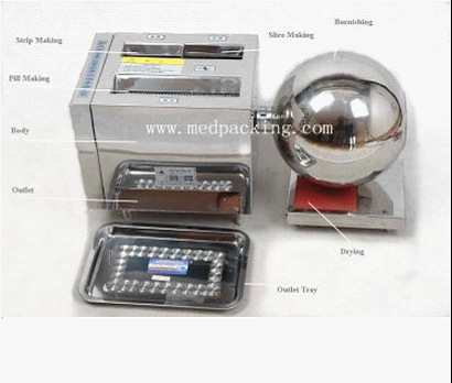 HK-88B Multi-function Pill Making Machine Pill Maker For Large Pill