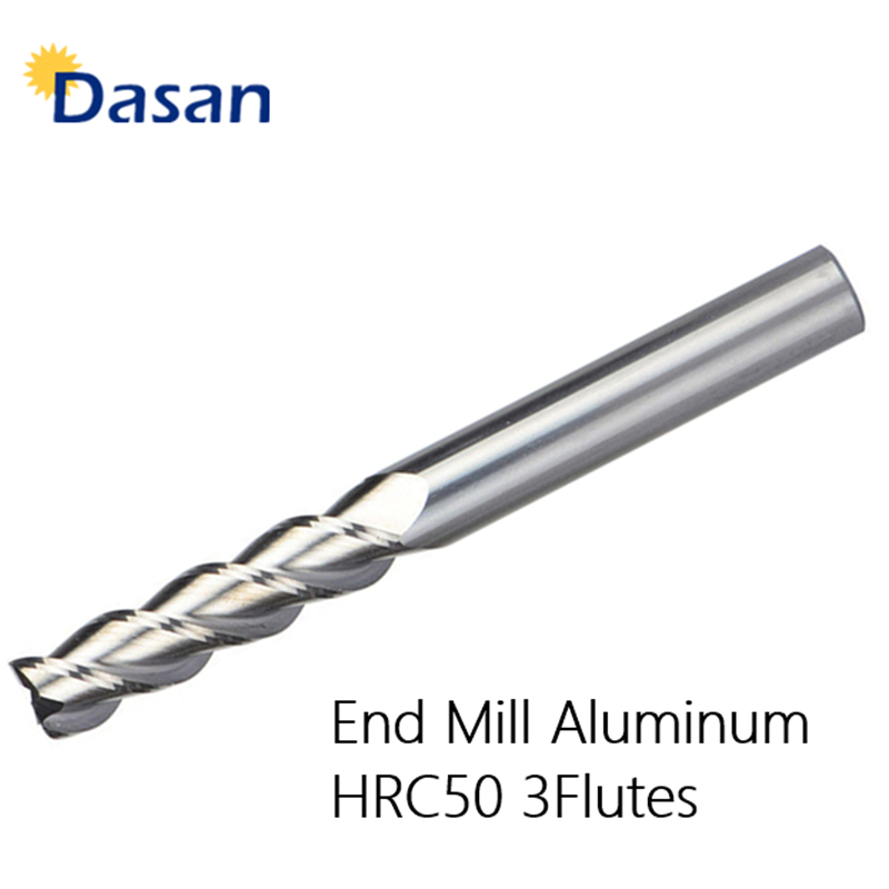 12mm*100mm Carbide End Mill Cutter For Aluminum CNC Miiling Cutter Drill HRC 50