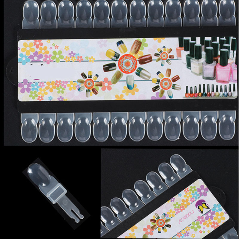 24pcs/set Removable Nail Art Tips Training Practice Display Rack Salon Manicure Tools
