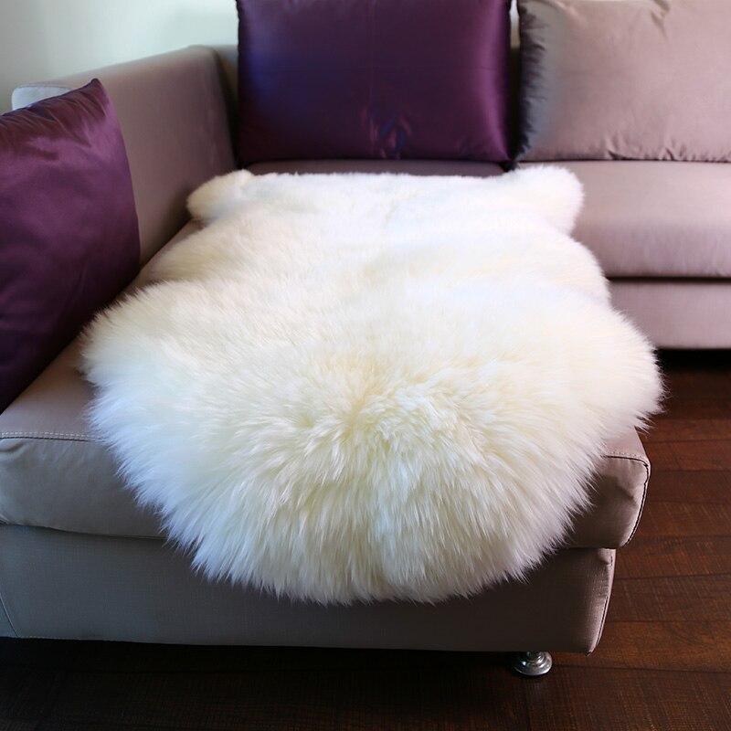 WonderFur SP1101 1 P 4 Echt NZ Schaffell 6 Farben Shaggy Fell Carpet Fr Wohnkultur Weisses Sofa Abdeckung Decke