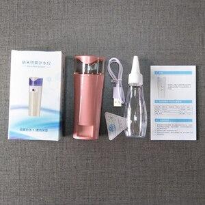 Nano rociador de niebla con caja eléctrica cuidado de la piel hidratante cuerpo Facial nebulizador vaporizador cara pulverizador de balneario instrumentos de belleza