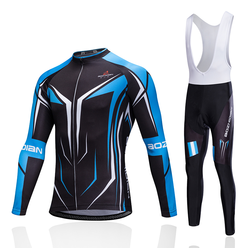 AOZHIDIAN 2017NEW Long sleeve Cycling Jersey Knights Cycling Wear Summer wicking riding clothes