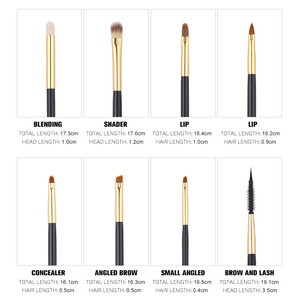 Image 5 - Zoreya 24Pcs Goat Hair Blending Makeup Brushes Professional Powder Foundation Eye Shadow Large Fan Brush Set Tool Animal Natural