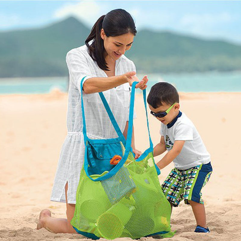Children Sand Beach Mesh Bag Children Beach Toys Baby Bath Toys Storage Bags Sundries Bags Summer Swimming Toys For Kids Playing