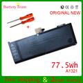 Genuine original nuevo a1321 batería para apple macbook pro 15 ''a1286 mc721 mc723 mb985 mb986 series 77.5wh 10.95 v