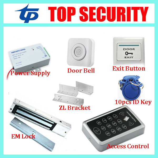 Good quality 125KHZ RFID EM card proximity card door access controller standalone single door access control reader system hot sale 1000 card capacity proximity card 125khz em card door access control system without software single door control