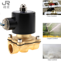 1/2 DC 24V Electric Magnetic Solenoid Valve Pneumatic Valve Brass Body for Water Air Oil Gas