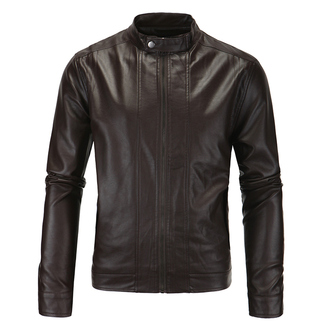 Men Leather Jacket Hot Sale Sale Faux Leather Pu Full Polyester Standard Ceket 2017 Locomotive Collar Washed Leather Jacket