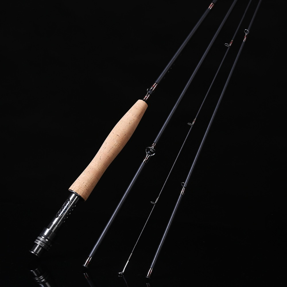 ФОТО 2.4 m 2.58 meters 4 section line wt 3/4 4/5 High Carbon Spinning Fly Fishing Rod