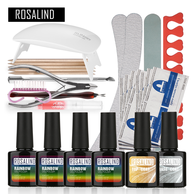 Gel Nail Soak Off Kit: Aliexpress.com : Buy Rosalind Fashion Neon UV Gel Kit Soak