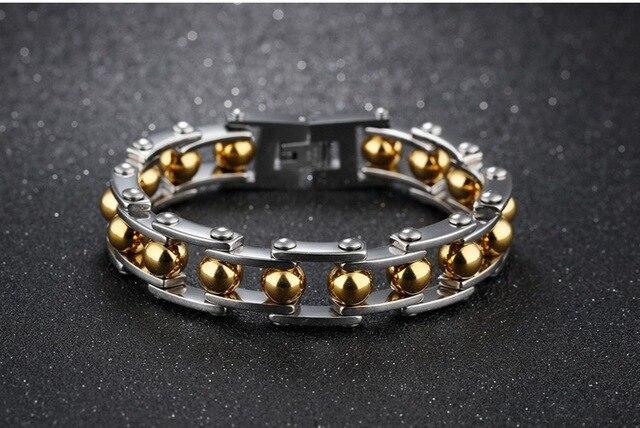 Фото мужские браслеты высокого качества из нержавеющей стали с цепочкой