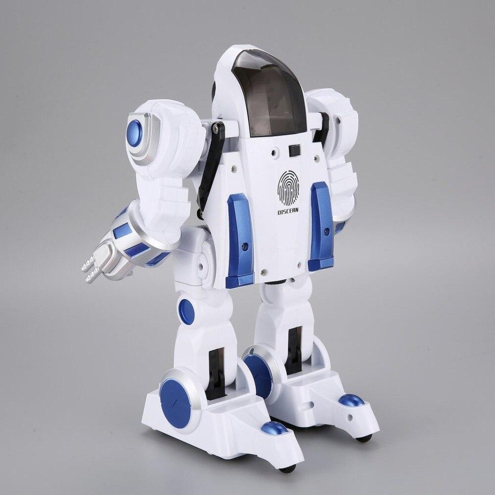 Nouveau K4 D'empreinte Digitale Intelligente Déformation Police RC Robot Marcher Danse Dire Coulissante Enfants Télécommande Jouets Cadeau
