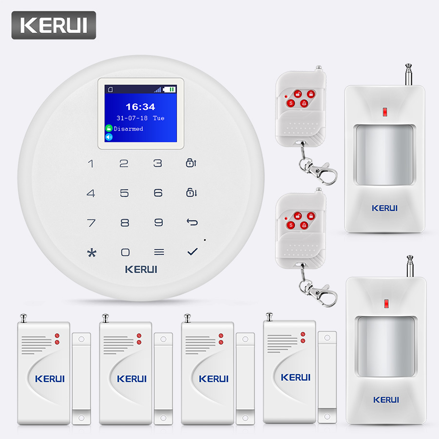 KERUI G17 1.7 inch Screen Scheduled Arm Disarm Wireless GSM Alarm System Call Push Home Security Remote Control Safety Alarm Kit