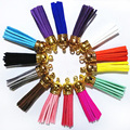 100pc New Arrival Leather Design Superfine Fiber Tassel Accessories For Keychains Earrings Golden Fashion  Bag Charming Pendant