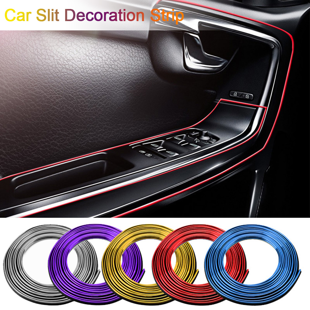 New 5M Car Styling Interior Exterior Decoration Strips Moulding Trim Dashboard Door Edge Universal For Cars Auto Accessories