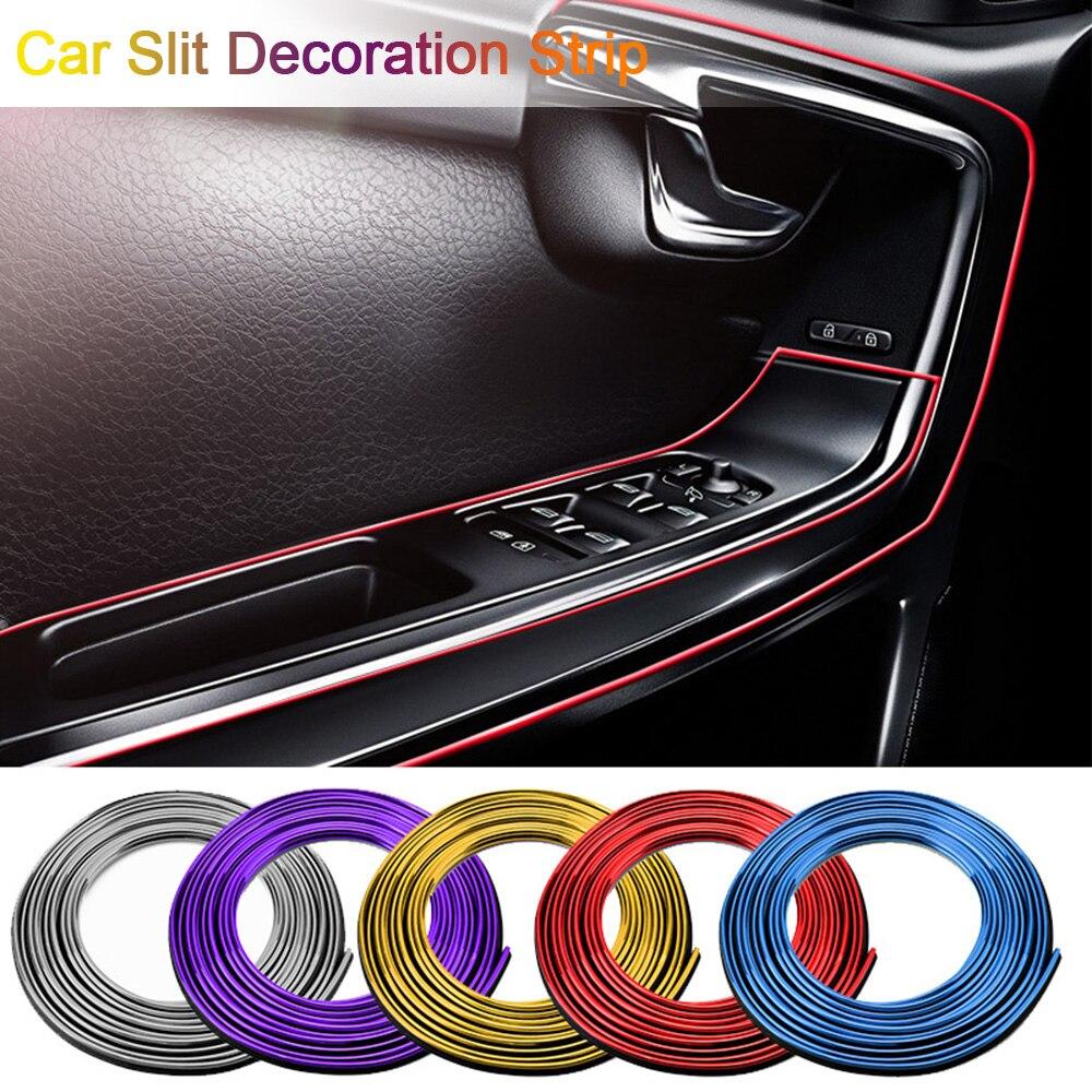 Nouveau 5M voiture style intérieur extérieur décoration bandes moulage garniture tableau de bord porte bord universel pour voitures Auto accessoires