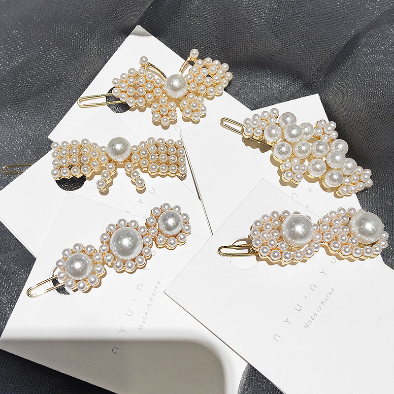 Romantic Korea East Gate Style Imitation Pearls Hair Pins Flower Butterfly Bow Hair Clips For Girl Women Fashion Hair Accessories