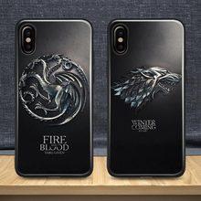 Game of Throne House Stark Targaryen GOT 2019 Case For Apple iPhone