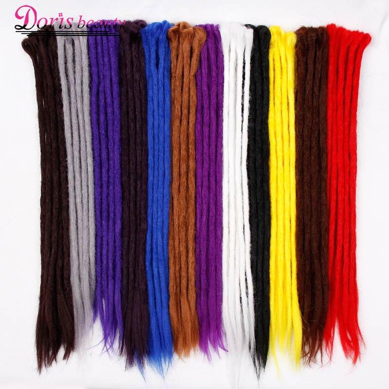 Extensiones de Dreadlocks hechos a mano de 20 pulgadas de belleza de la  moda del Reggae Crochet hip-hop sintéticos del pelo del trenzado del  ganchillo ee3ce98fdf6