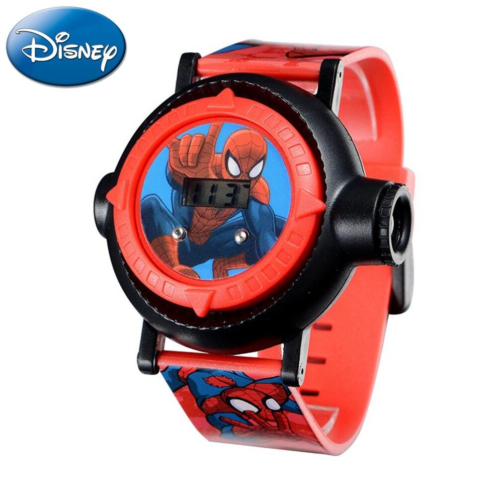 Homem de Ferro Relógio do Esporte m à Prova Disney Relógio Projetor Crianças Padrões Plástico Marvel Assistir 30 d' Água Hodinky Digitais 81018 10