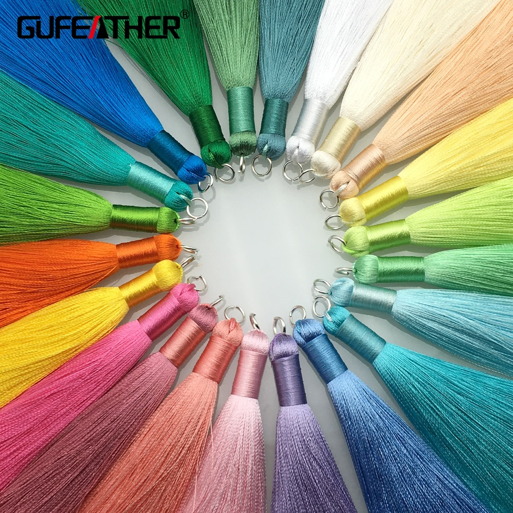 GUFEATHER L63/8cm Silk tassel/jewelry accessories/accessories parts/diy accessories/hand made/jewelry making/diy jewelry