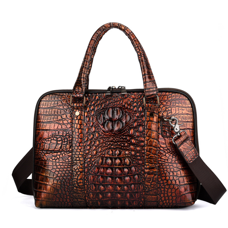 Men Genune Leather Briefcase Bolso Hombre Crocodile Business Men Handbags Laptop Computer Bag Bolso Negocios