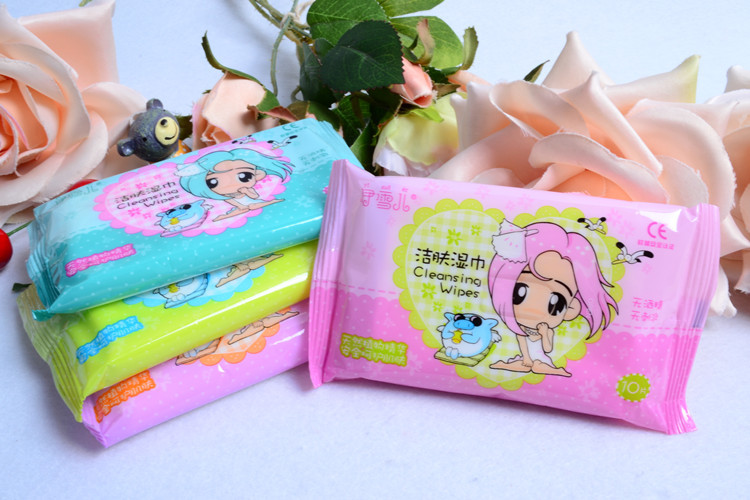10PCS/Pack Hand & Mouth Baby Wet Skin Wipes Kids Mini Wet Wipes Travel Portable Wet Wipes for Mother Baby Care Wet Wipes SJ05